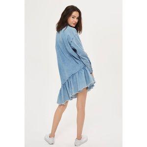8233acc3b8d93 Topshop Dresses | Asymmetrical Denim Dress Size 6 | Poshmark